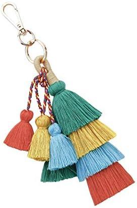 Tassel Hanger Bag Charm Gekleurde Sleutelhanger Groen