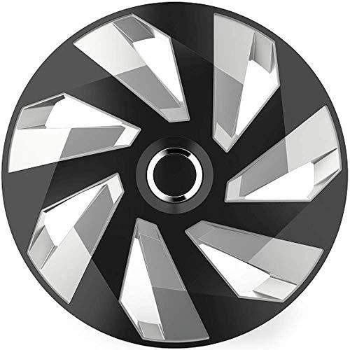 TEILE-24.EU Malinowski 16 Zoll Multi Color Schwarz/Silber Radkappen/Radzierblenden 4 Stück inkl.Reinigungsbürste NEU RC16