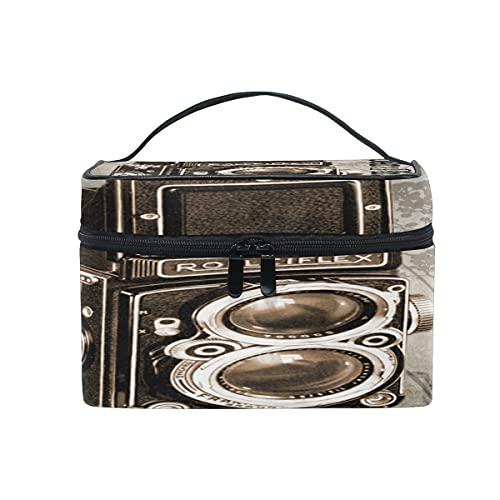 Kosmetiktasche für Fotoapparat, Vintage-Stil, Antik-Look, für Reisen, Make-up, Zug, Aufbewahrung, Organizer