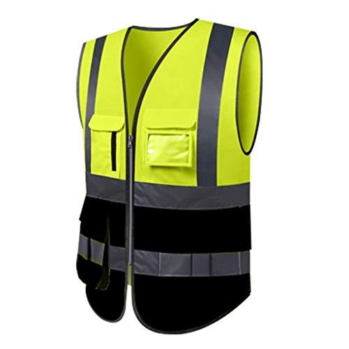 Chalecos de seguridad Saneamiento de seguridad chaleco reflectante chaleco de seguridad de marcha de los trabajadores de controladores de tráfico Ropa Chaleco Seguridad en el emplazamiento de la obra