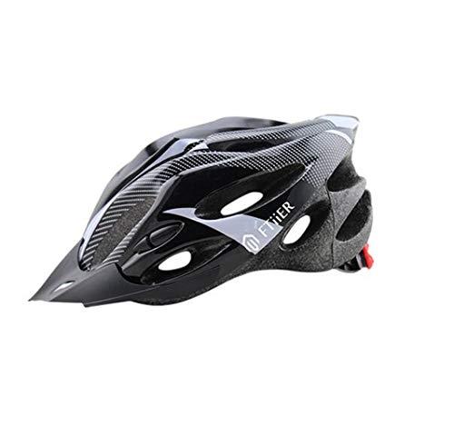 FTIIER Casco de bicicleta de montaña de una pieza para hombres y mujeres, sombrero de seguridad vial, equipo deportivo para coche, casco de 55-64 cm