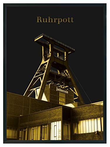 moebeldeal 2 Stück Poster Ruhrpott Zeche Zollverein Bild Ruhrgebiet Souvenir - 2er-Set DIN A4 - Plakat (Essen)