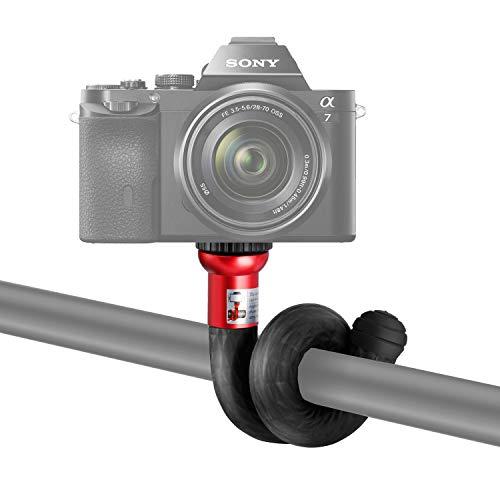 Neewer Mini monopiede flessibile bastone da selfie con 1/4 di testa di vite,27cm Supporto monopiede regolabile per GoPro camere DSLR smartphone come iPhone Samsung Galaxy e altri
