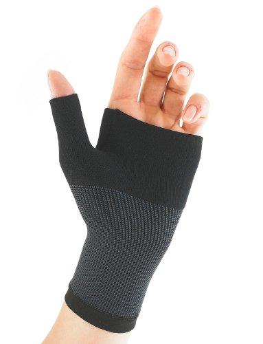 Neo G Airflow Muñequera y Órtesis para pulgar - Talla S - Negro - Calidad de Grado Médico, ligera, transpirable. Ayuda a muñecas débiles, artríticas, esguinces, distensiones, inestabilidad - Unisex