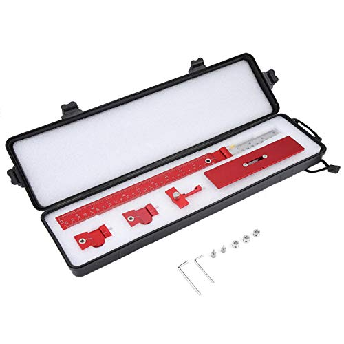 Woodworking Dowel Jig Kit, Aluminum Alloy Dowel Template Woodworking Cabinet Template Drilling Guide Ruler