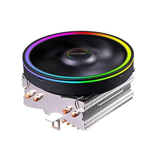 Centilador CPU Refrigerador de CPU LED con 4 Pila de Calor de Contacto Directo 120 mm Silent PWM Ventilador de Aluminio Socket Universal Socket Sistema Refrigeración