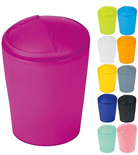 Spirella Kosmetikeimer Move Abfalleimer Schwingdeckeleimer   Kunststoff   2 Liter  Pink