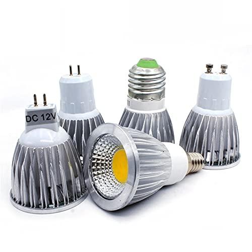 GHC LED Bombillas Luz de Bombilla LED Alta LED LED MR16 DC12V Lámpara Regulable LED Spotlight E27 E14 GU10 9W 12W 15W AC 220V 240V (Color : E14 85 TO 265V, Color emisivo : Cold White)