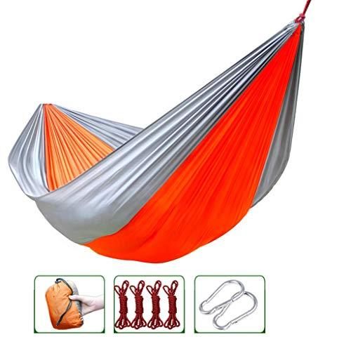 Hamacs, Meubles de Camping Lit d'extérieur léger Mince et Respirant adapté à de Multiples scénarios Charge de Tissu de Parachute 200 kg (Couleur: Vert, Taille: 270 * 145 cm) Confortable