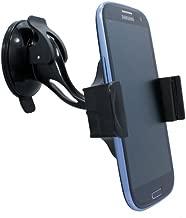 Premium Universal Compact Car Mount Kit Rotating Windshield Phone Holder for Cricket Huawei Mercury - Huawei Mercury Ice - Kyocera Hydro - LG Optimus C