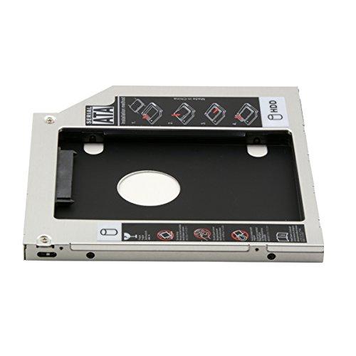 Cablecc - Supporto adattatore per un secondo disco rigido SATA da 9,5 mm, caddy per hard disk da inserire nello spazio del lettore CD e DVD dei computer portatili