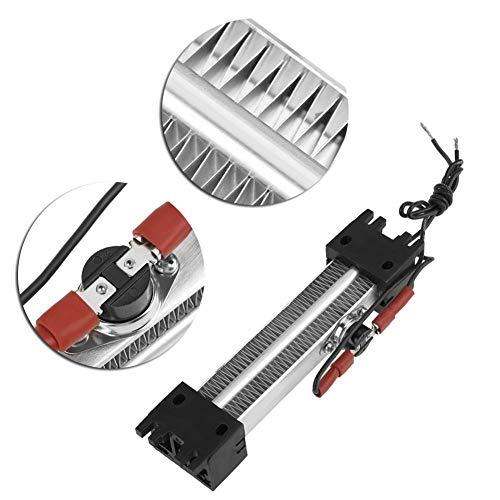 Keramische luchtverwarming, 250 W 110 V AC DC geïsoleerde PTC keramische luchtverwarming PTC-verwarmingselementen voor binnen, 1500 W met instelbare thermostaat, ventilatorgarageverwarming