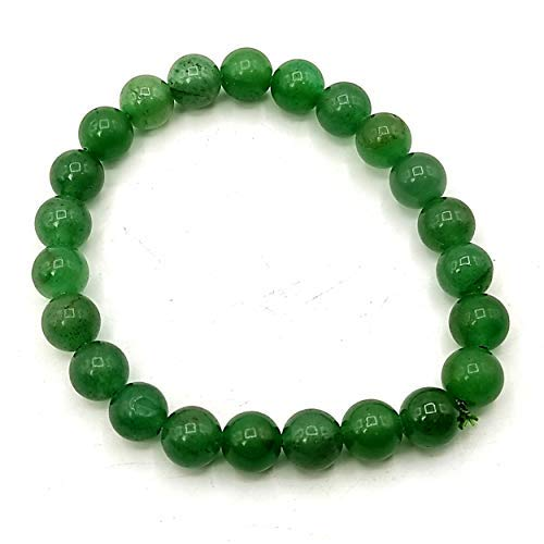 Plusvalue Aventurine Bracelet for Better Job Opportunities Increase Prosperity and Reiki and Crystal Healing with Jute Bag (Green)