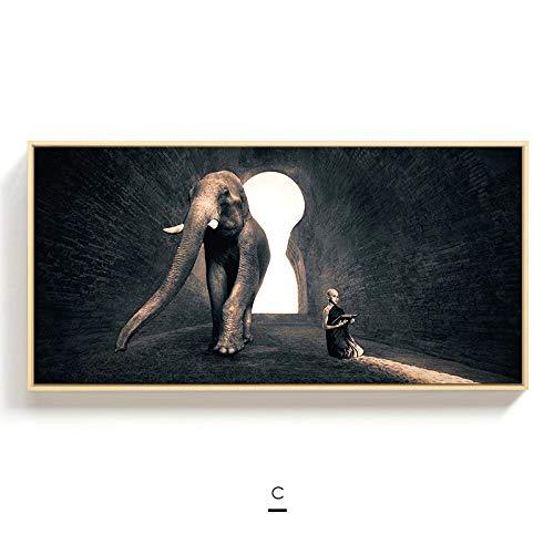 jzxjzx Frameless olieverf moderne schilderijen woonkamer achtergrond muurdecoratie schilderij