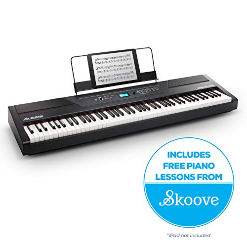 Alesis Recital Pro |  Digital Piano / Keyboard with 88 Hammer Action Keys, 12 Premium Voices, 20W Built in...
