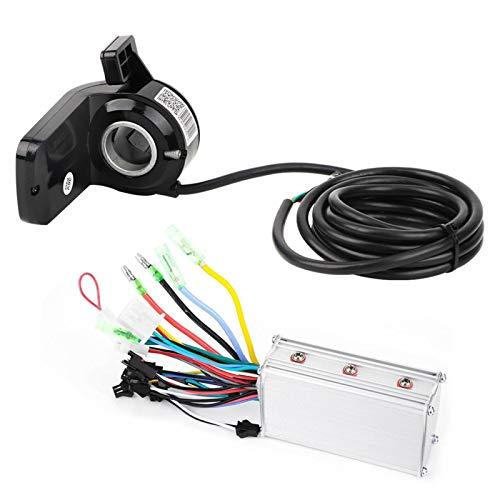 DAUERHAFT Pantalla de Controlador de Scooter de función Impermeable con Pantalla LCD de Acelerador de Pulgar Controlador de Bicicleta eléctrica, para Scooter