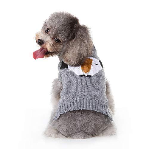 Hond Warme vacht Schattige puppy Kat Trui Trui Gebreide kleding Kleding Twist Gestreept in herfst Vroege winterjas Honden,Gray,XXL