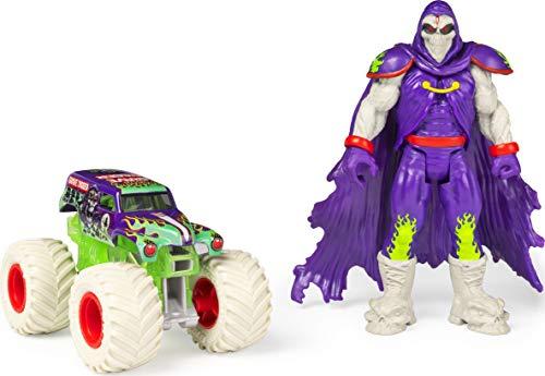 Monster Jam Offizielles Grab Bagger im Maßstab 1:64 Monster Truck und 12,7 cm Grim Creatures Actionfiguren-Set
