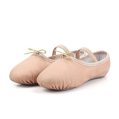 DANCEWOOD Leather Full Sole Ballet Shoes Slippers,Ballet Shoes for Girls...