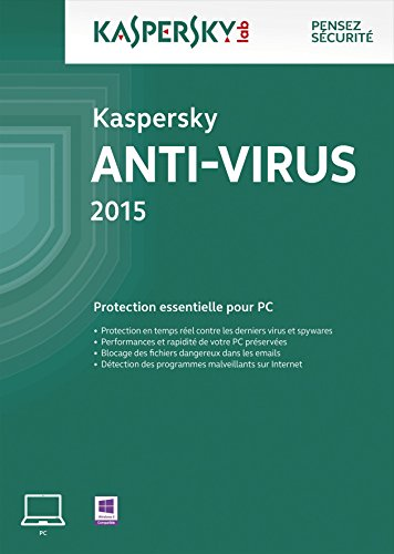 Kaspersky Anti-Virus 2015 - 5 postes - 1 an [Download]