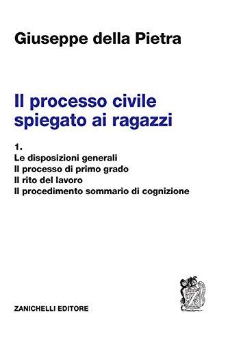 Il processo civile spiegato ai ragazzi. Per le Scuole superiori. Le disposizioni generali. Il processo di primo grado. Il rito del lavoro. Il procedimento sommario di cognizione (Vol. 1)