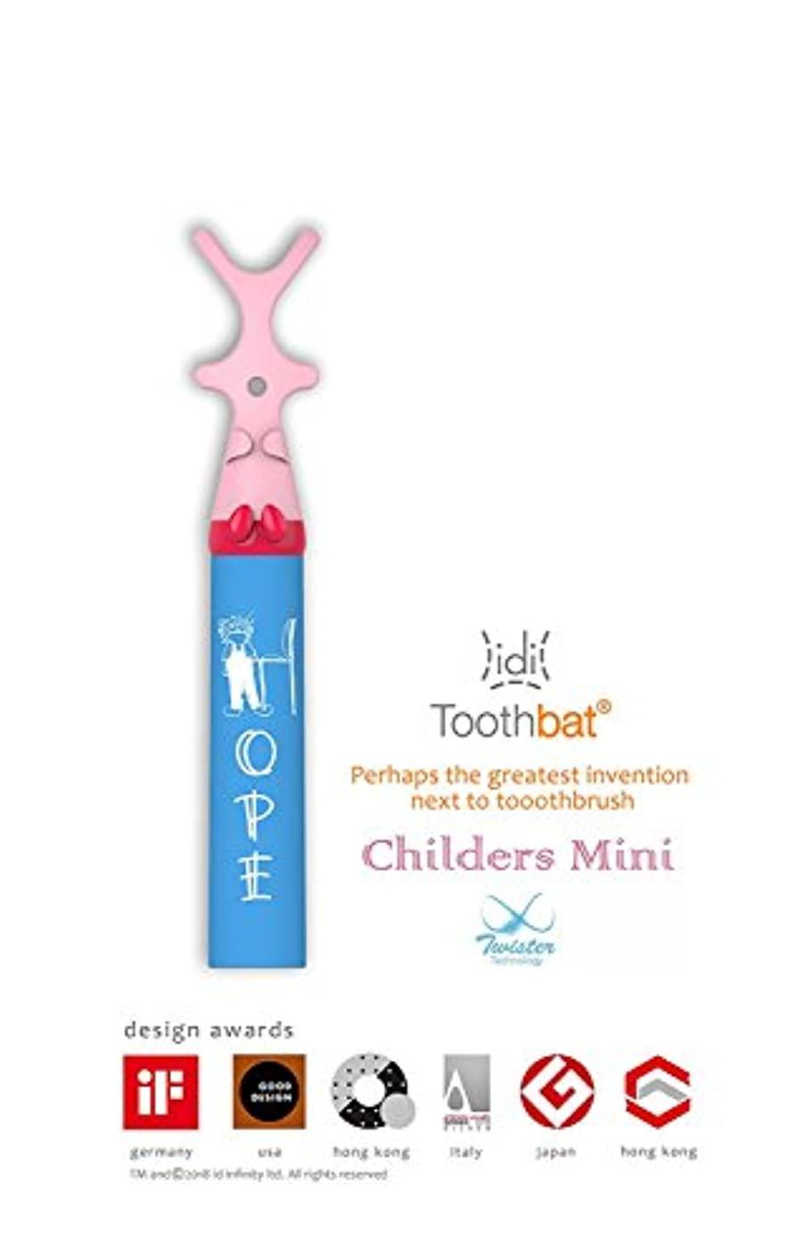 toothbat WOW Kids Dental floss holder for perfect oral hygiene and tooth cleaning of interdental spaces. The professional dental care