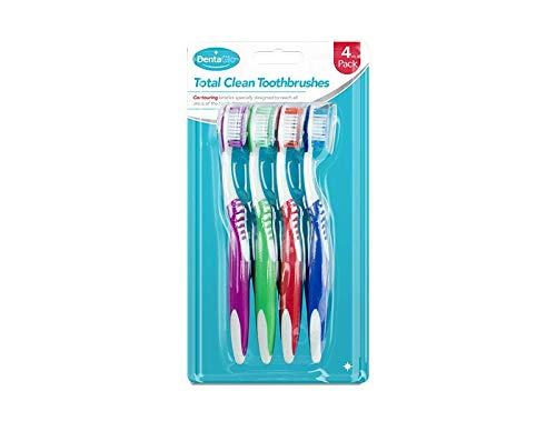 DentaGlo Contouring Soft Grip Zahnbürste, mittelgroße Borsten, für Zahnhygiene
