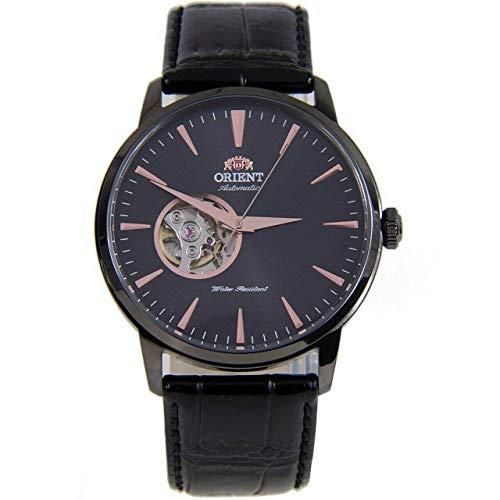 Orient Unisex Erwachsene Analog Automatik Uhr mit Leder Armband FAG02001B0