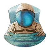 Enorme astronauta Apper la costa del mar polar cuello polaina calentador invierno a prueba de viento máscara de esquí pasamontañas media máscara para mujeres hombres