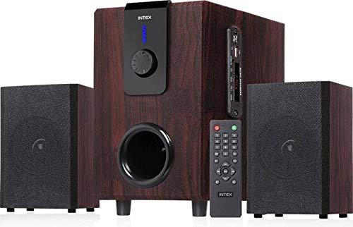 Intex 2.1 XV Choral TUFB 36 W Bluetooth Home Audio Speaker (Brown,...
