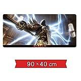IGZNB Mauspad Geschwindigkeits-Gaming-Mauspad Diablo 3900 X 400 Mm |XXL Mousepad |Tischgestell Large Size |Perfekte Präzision Und Geschwindigkeit, D