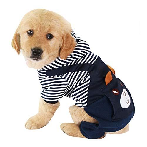 MiOYOOW Ropa Perro para Mascota, Abrigo de Oso Dibujos Animados con Capucha Ropa para Perros Pequeños y Cachorros