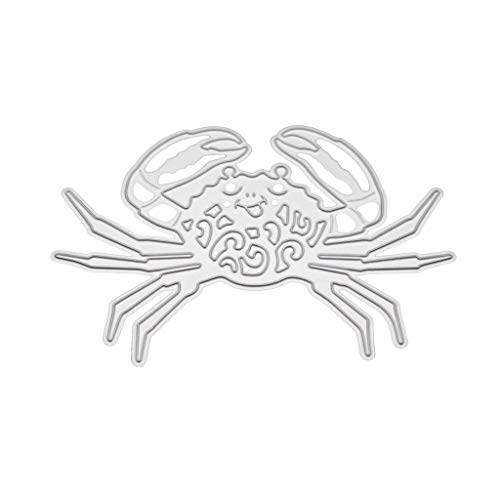 Happinter Die Cuts,Crab Metal Cutting Dies Die Cuts for Card Making Metal Mould Template for DIY Scrapbook Album Embossing Crafts Decor