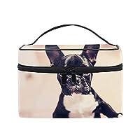 メイクポーチ ボックス 小物入れ 仕切り 旅行 出張 持ち運び便利 コンパクトBoston Terrier