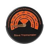 XuHang Magnetisches Ofenrohr-Thermometer aus Legierung – Temperaturanzeige für Holzofen für...