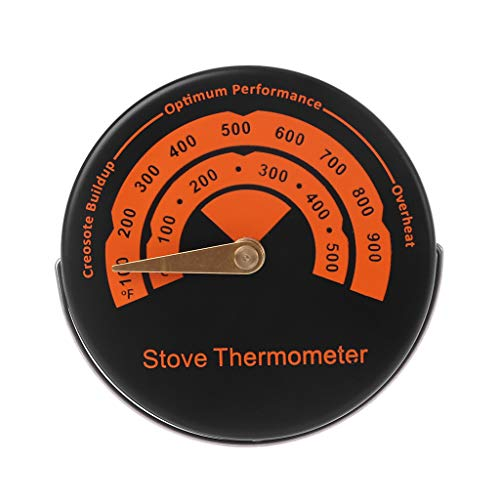 GUMEI Alloy Magnetic Stove Flue Pipe Thermometer - Temperature Gauge For Wood Burner