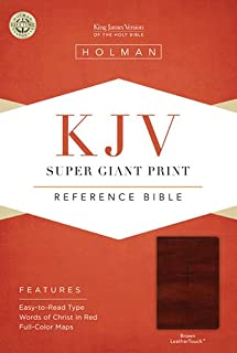 KJV Super Giant Print Reference Bible, Brown LeatherTouch