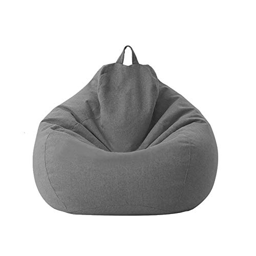 Classic Bean Bag Sofa Chairs, Lazy Lounger Bean Bag Storage Chair for Adults and Kids Indoor Outdoor for Home Garden Lounge Living Room (Deep Gray)