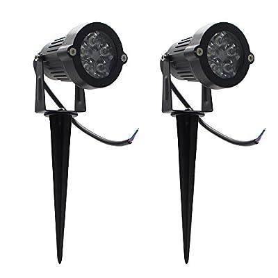 Maxbayou Packs of 2,LED Flood Light,Waterproof 5W LED Outdoor Garden Light, AC85-265V, Spotlights for Landscape Lawn Yard Path Use