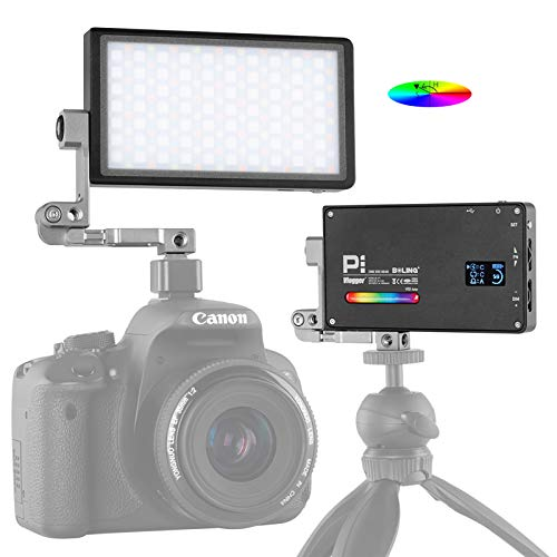BOLING BL-P1 RGB LED Light Full Color Camera/Camcorder Video Lighting Panel Portable Pocket Size Creative 9 Applicable Situation, 360° Adjustable Arm Support System, 2930mAh Battery Rechargeable 12W