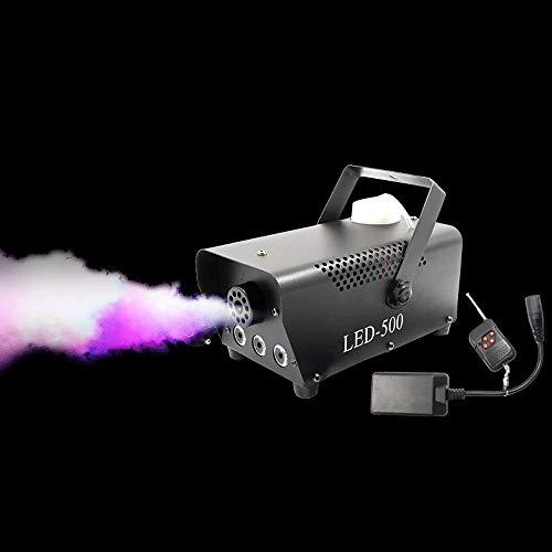 JJSFJH 3LED Bühne Nebelmaschine 500W Nebelmaschine Stadiums-Effekt-W/Wireless Remote for Feiertage Hochzeiten Festes Weihnachten