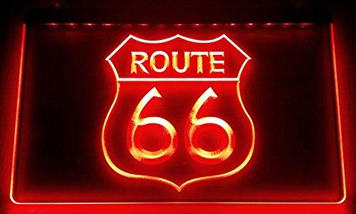 Zhengdian Electronic Route 66–Cartel Luminoso LED Nuevo–Rótulo Carga Reklame Neon Neon (Estados Unidos