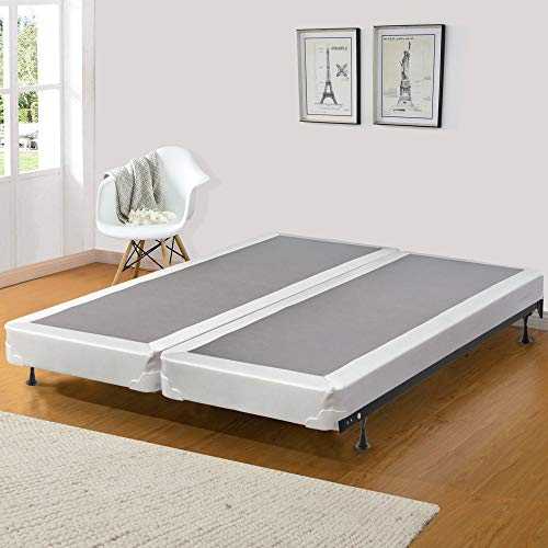 Spinal Solution 4' Fully Assembled Split Coil Box Spring for Mattress, Queen Size, Beige