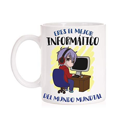 FUNNY CUP Taza Eres el Mejor Informatico del Mundo Mundial. Taza Divertida de Regalo (Informatico)