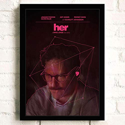 lubenwei Her Joaquin Phoenix Classic Movie Wall Art Home Decor Canvas Painting Art Nordic Decoration Bar Cafe Room Poster 40x60cm No frame (WA-2284)