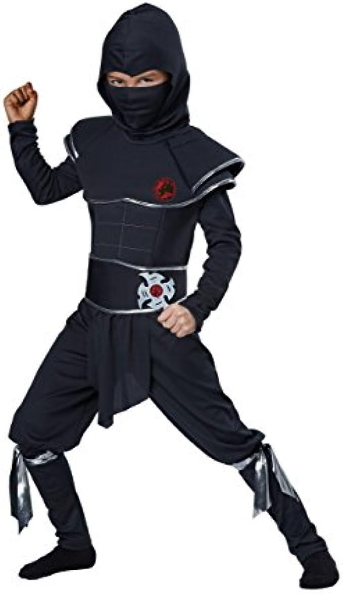 Boys Ninja Warrior Costume - M Black