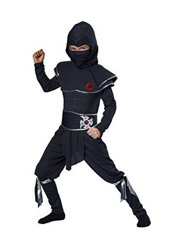 Boys Ninja Warrior Costume - S Black