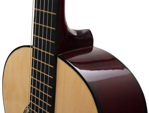 Classic Cantabile AS-851 4/4 Konzertgitarre Starter Set (Komplettes Anfänger Set mit Klassik Gitarre, Gigbag Tasche, Nylonsaiten, Lehrbuch/Schule inkl CD und DVD, 3x Plektren und Stimmpfeife) - 5