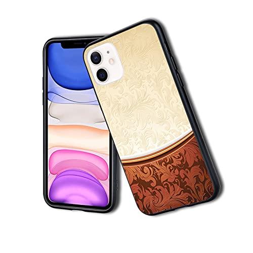 Cover protettiva ultra sottile e leggera in silicone TPU per iPhone con motivi vittoriani in stile barocco