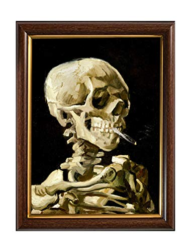 Cross Stitch Pattern Van Gogh Reproduction Skeleton Painting Cross Stitch Counted Chart PDF on CD Unique Easy to Make Vintage English